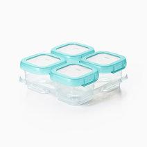 Oxo tot baby blocks freezer storage container 4oz aqua image1