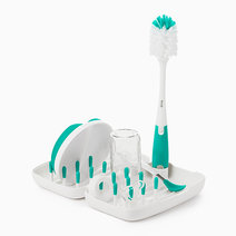 Oxo tot on the go drying rack and bottle brush teal image02