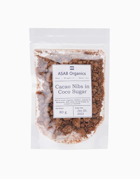 Cacao Nibs Coated In Coco Sugar (80g) by ASAB Organics