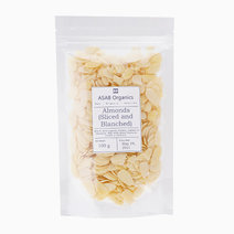 Almonds (Sliced & Blanched) (100g) by ASAB Organics