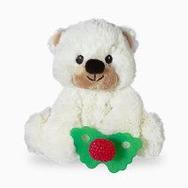 Razbuddy paci holder raz berry red teether   bobby bear 01
