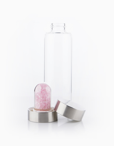 Rose Quartz Crystal Water Bottle by Crystal Beauty