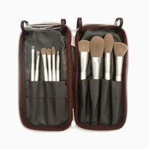 Pro studio 10 silver travel brush set with case 1