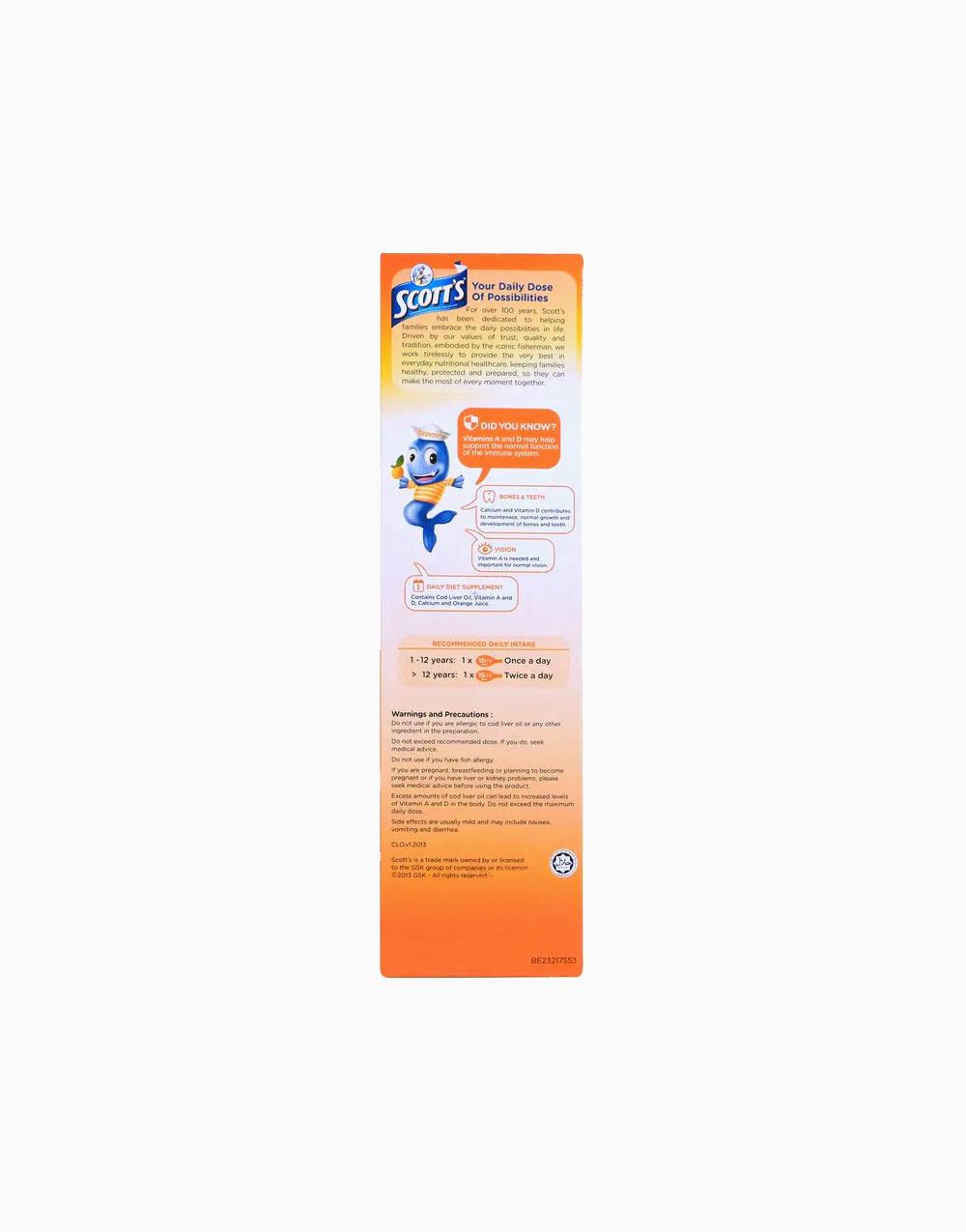 Emulsion Syrup Orange Flavor (400ml) by Scott's