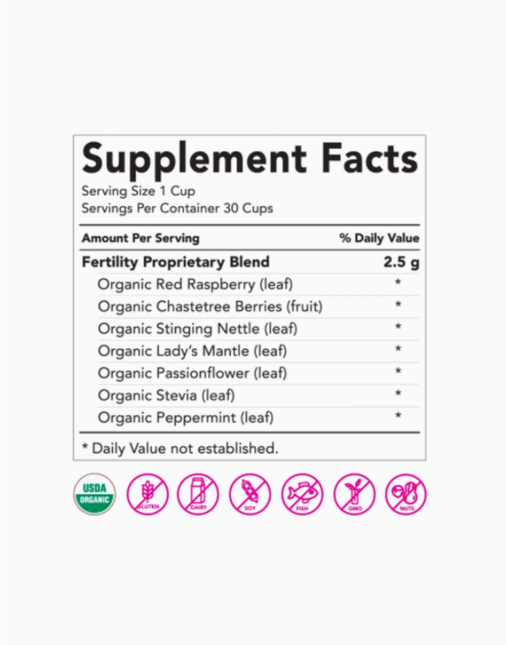 Fertility Tea: Sweet Mint (30 Cups) by Pink Stork