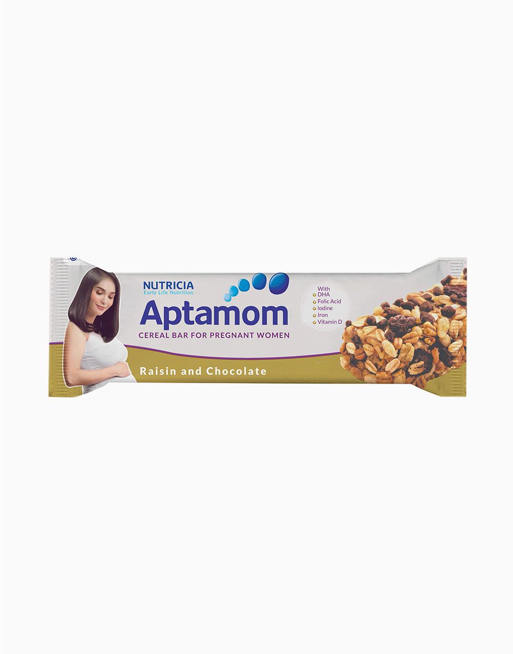 Aptamom Cereal Bar - Raisin and Chocolate with DHA (40g) by Nutricia