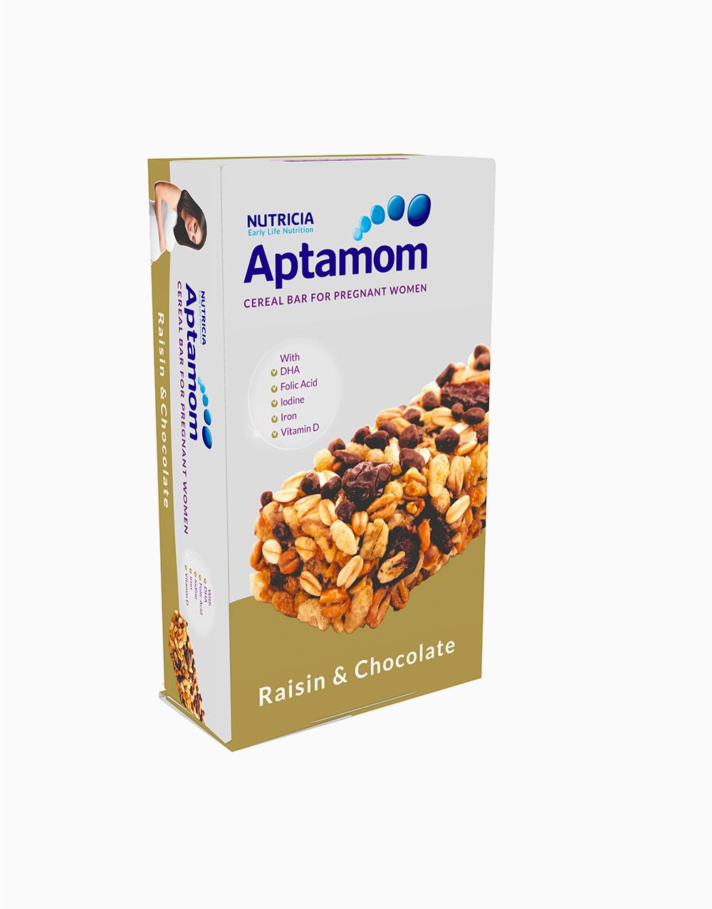 Aptamom Cereal Bar - Raisin and Chocolate with DHA (40g x 18) by Nutricia