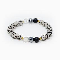 Tcc eye of protection tibetan agate   black onyx   hematite   clear quartz crystal bracelet