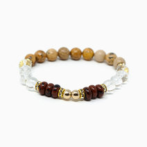 Tcc unlock your power mahogany obsidian   picture jasper   clear quartz crystal bracelet