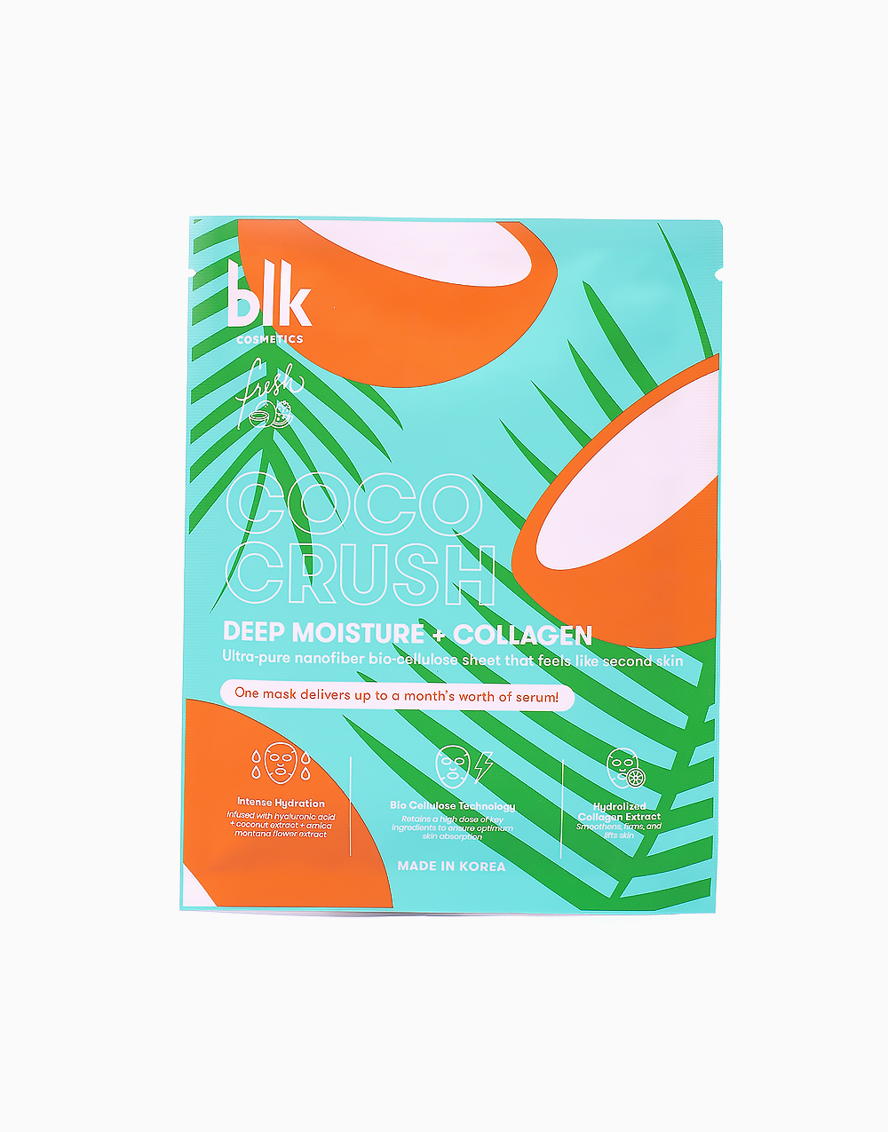 Fresh Deep Moisture + Collagen Face Mask Coco Crush by BLK Cosmetics
