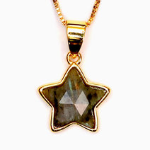 Labradonite Copper Plated Star Pendant by Crystal Beauty