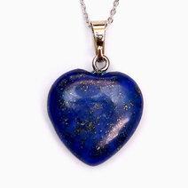 Crystal beauty lapiz lazuli healing heart pendant 1