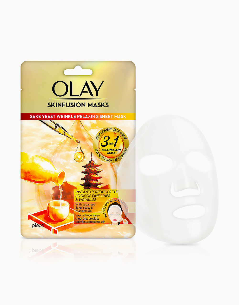 Olay Sake Yeast Wrinkle Relaxing Sheet Mask by Olay