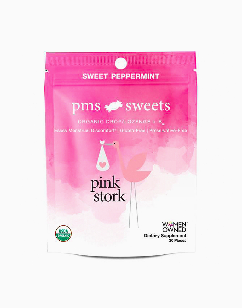 PMS Sweets: Sweet Peppermint (30 Hard Lozenges) by Pink Stork