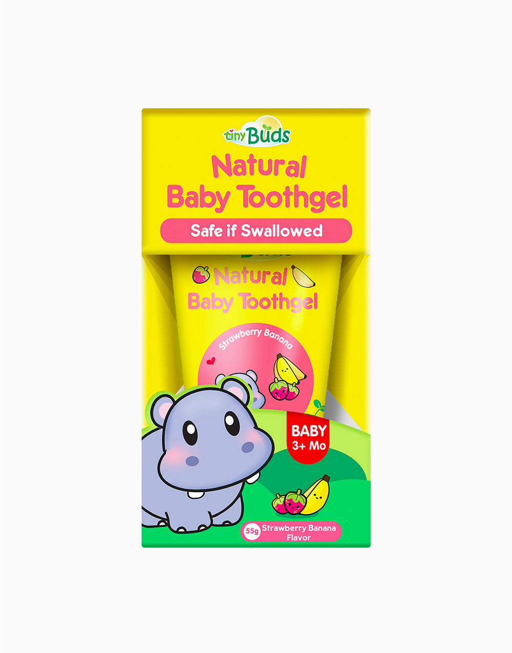 Natural Teething Gel Stage 1 by Tiny Buds | Strawberry Banana