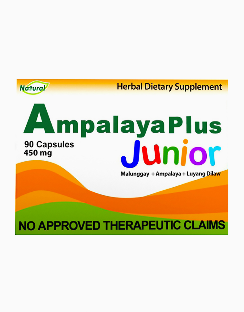 Ampalaya Plus Junior (450mg, 90 Capsules) by Go Natural Food Supplements