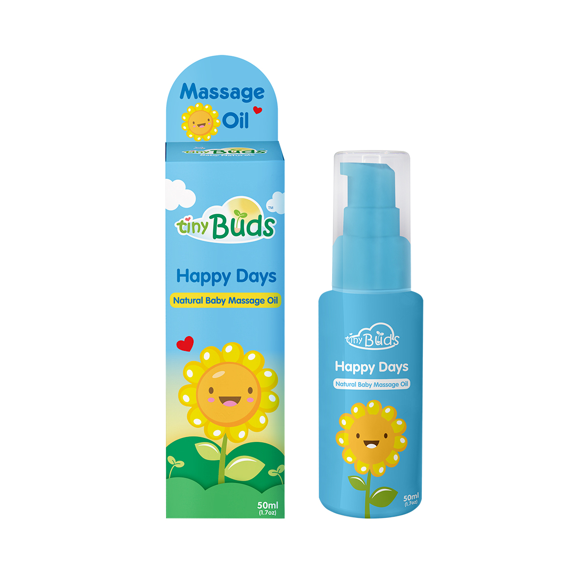 Sunflower Baby Oil (50ml) by Tiny Buds