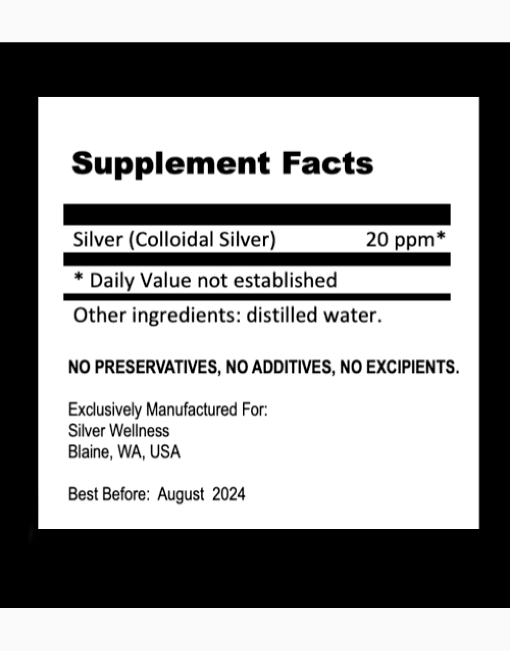 Pure Colloidal Silver Spray 20ppm (30ml) by Silver Wellness