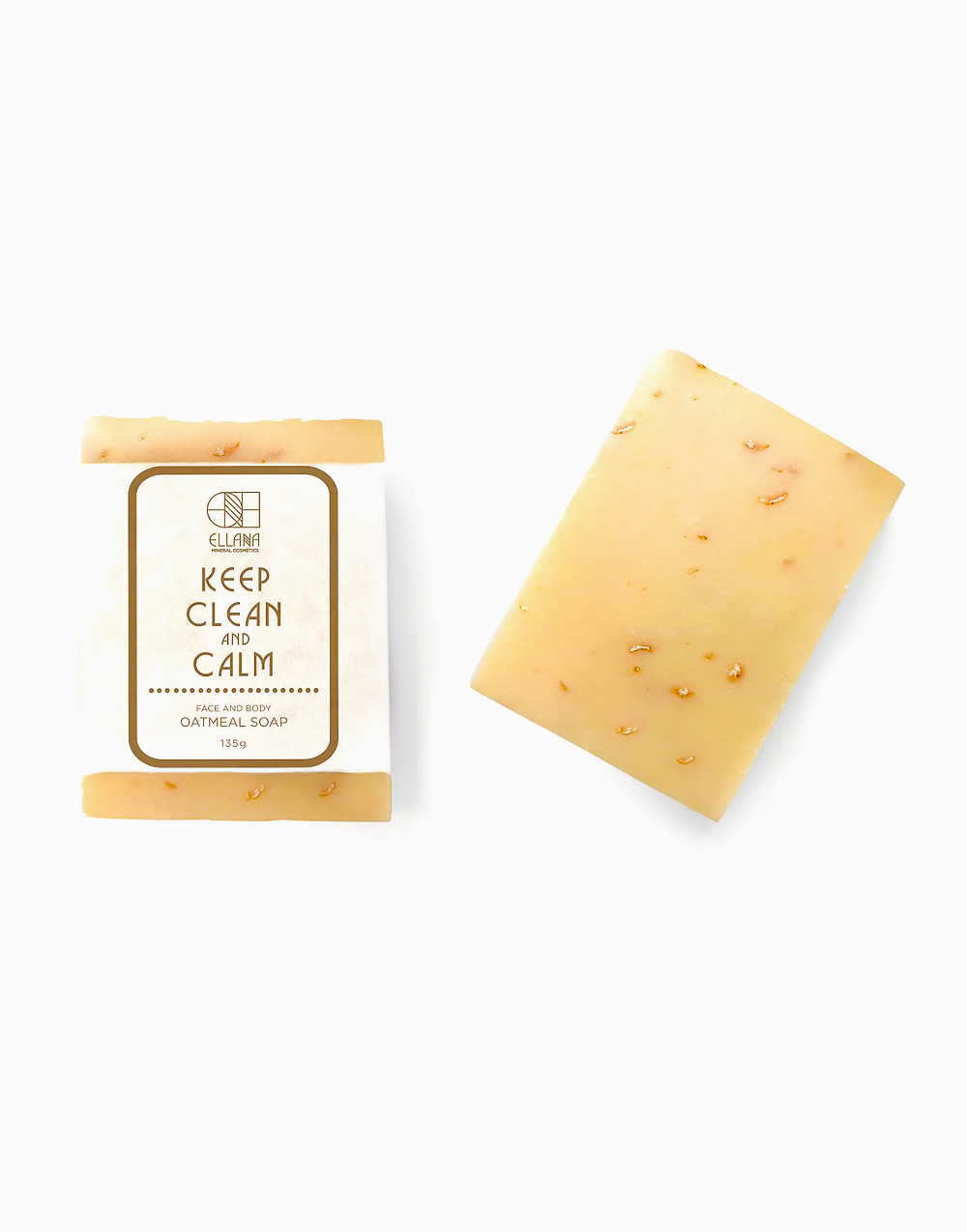 Keep Clean And Calm Oatmeal Soap by Ellana Mineral Cosmetics