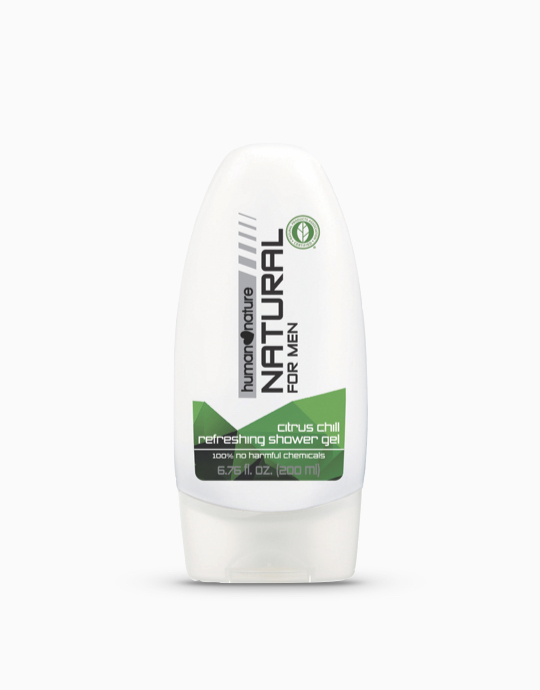 Men's Natural Refreshing Shower Gel in Citrus Chill (200ml) by Human Nature