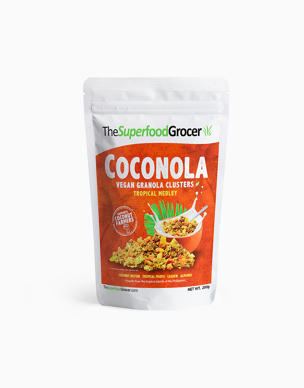 Coconola Vegan Granola Clusters Tropical Medley (200g) by The Superfood Grocer