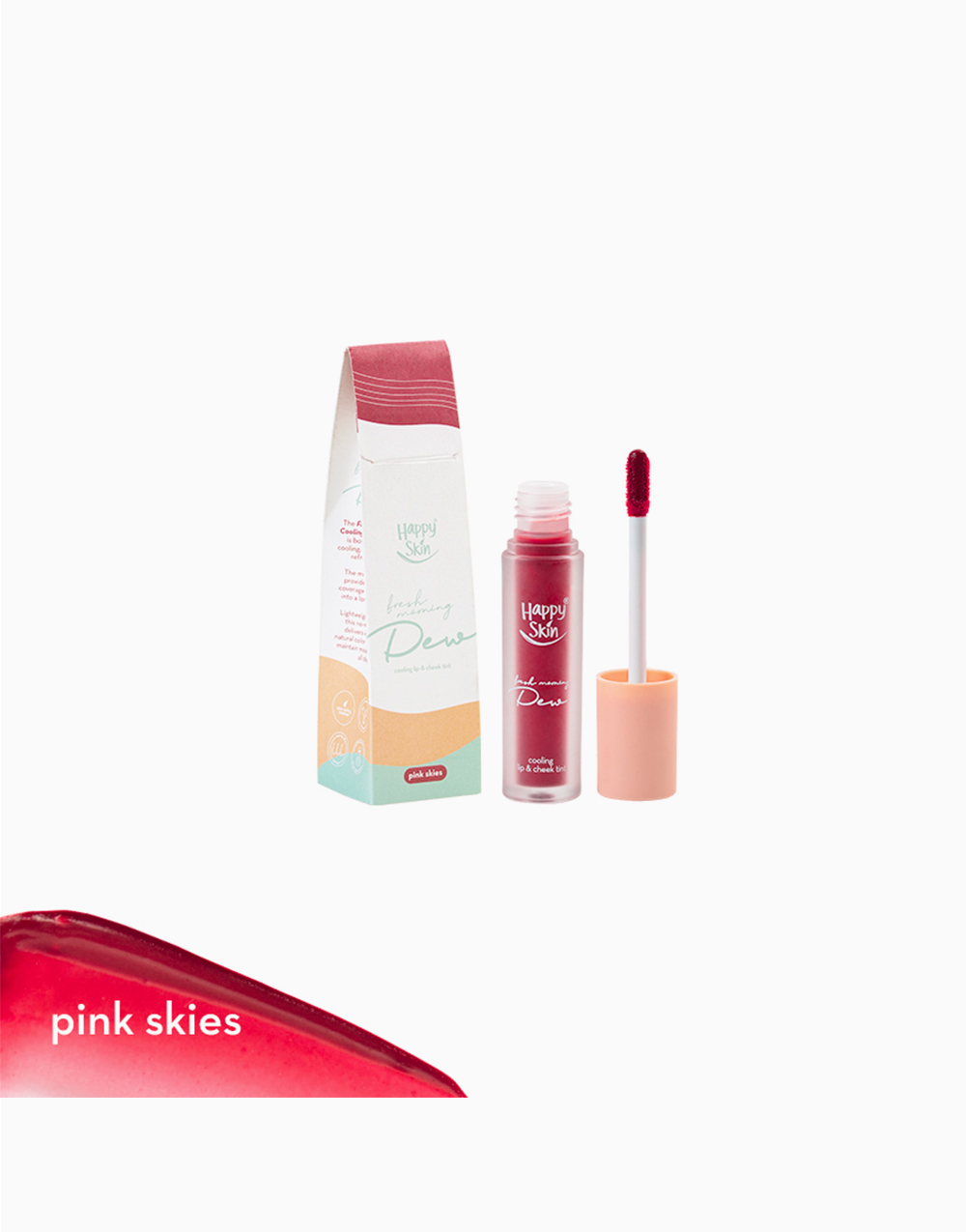 Cooling Lip & Cheek Tint by Happy Skin | Pink Skies