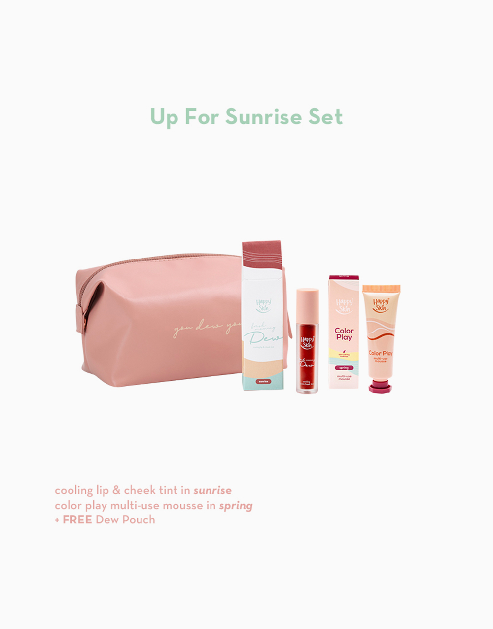Up for Sunrise Set (Tint + Mousse) by Happy Skin