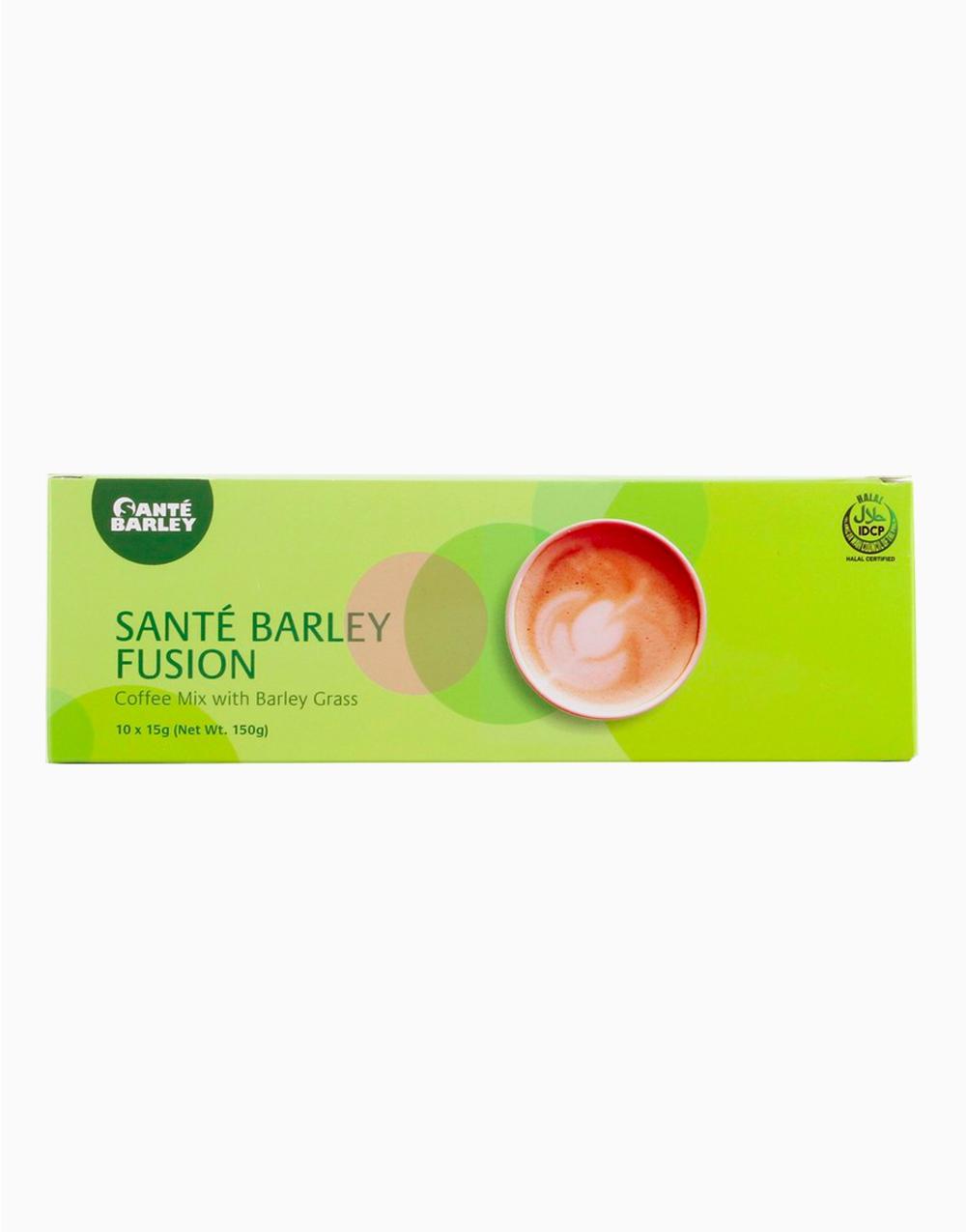 Santé Barley Fusion Coffee Mix with Barley Grass (10 Sachets) by Santé Barley
