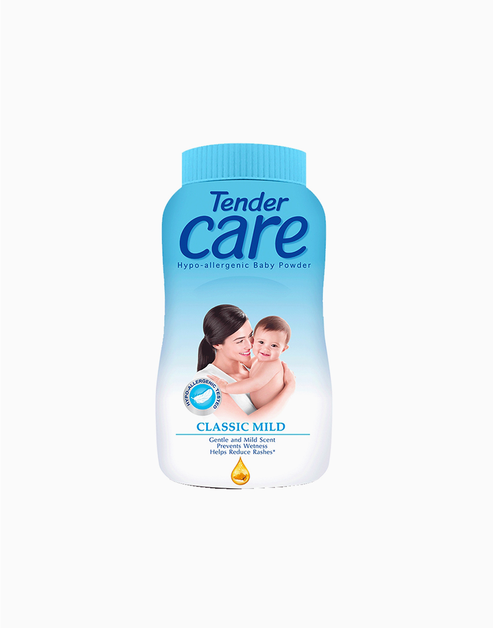 Classic Mild Hypo-Allergenic Baby Talc (100g) by Tender Care