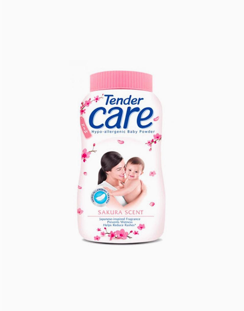 Sakura Scent Hypo-Allergenic Baby Talc (100g) by Tender Care