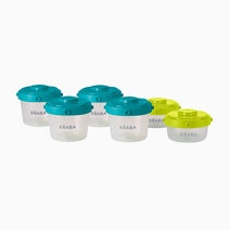 Beaba set of 6 clip portions   1st age   60ml   120ml %28blue neon%29