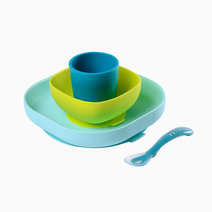 Beaba silicone meal set %28blue%29
