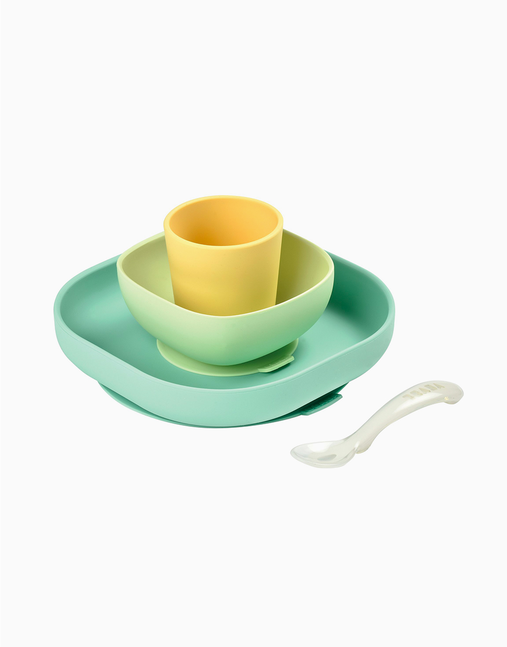 Silicone Meal Set (4 Pcs.) by BEABA | Yellow