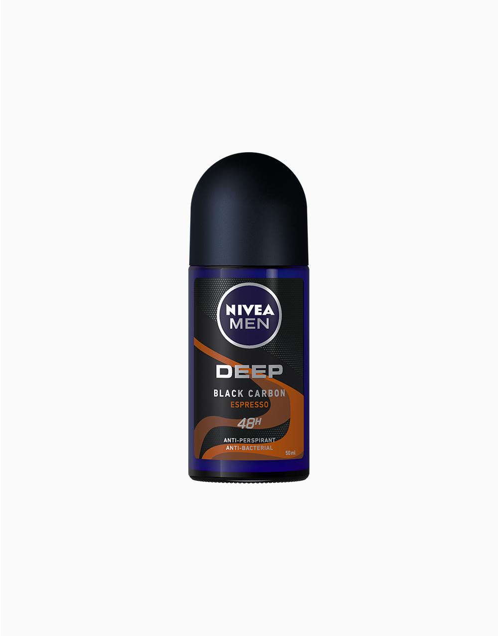 NIVEA Men Deep Espresso Roll On Deodorant (50ml) by NIVEA