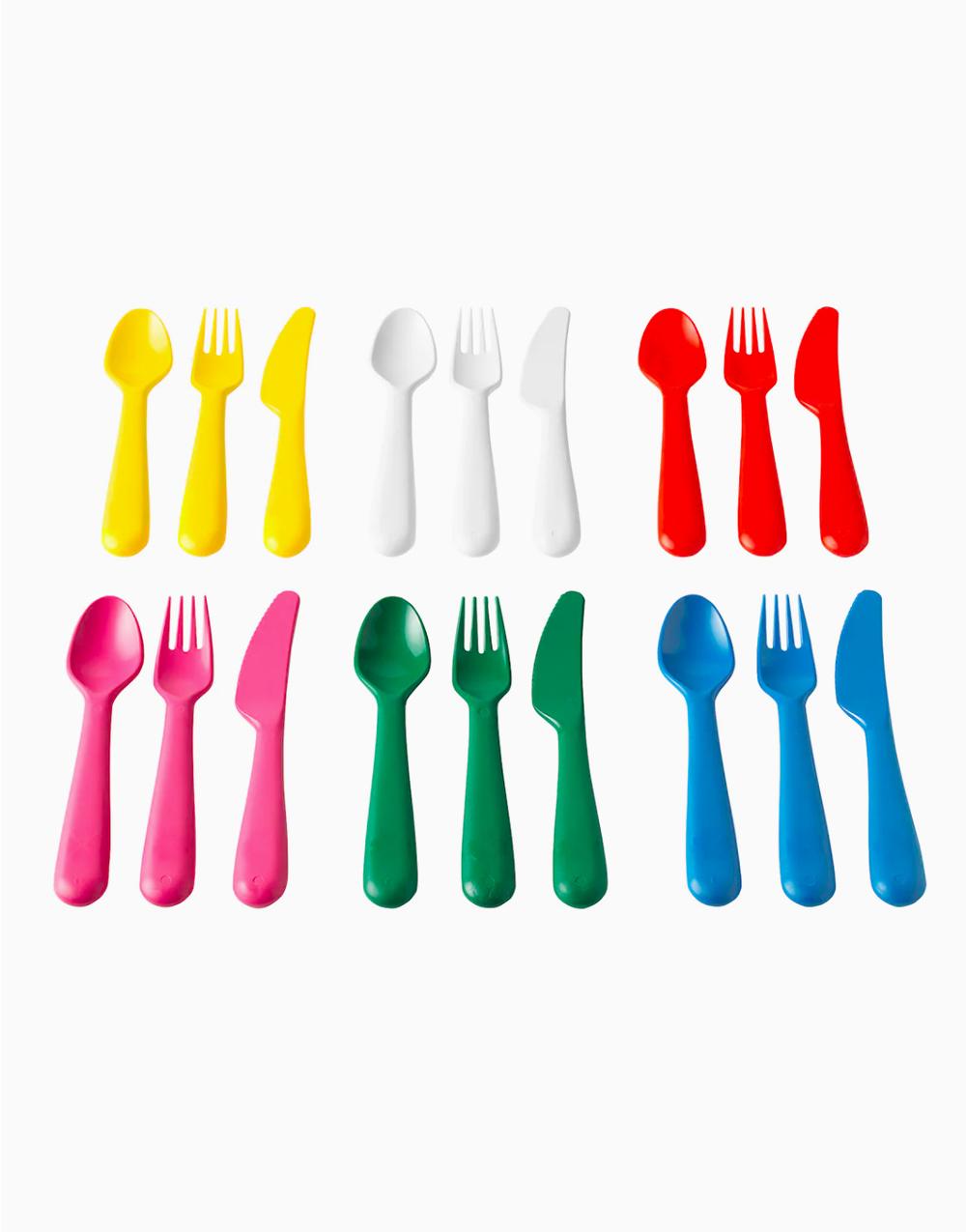 KALAS 18-piece Cutlery Set Multicolor by Ikea