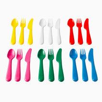 Ikea kalas 18 piece cutlery set multicolor
