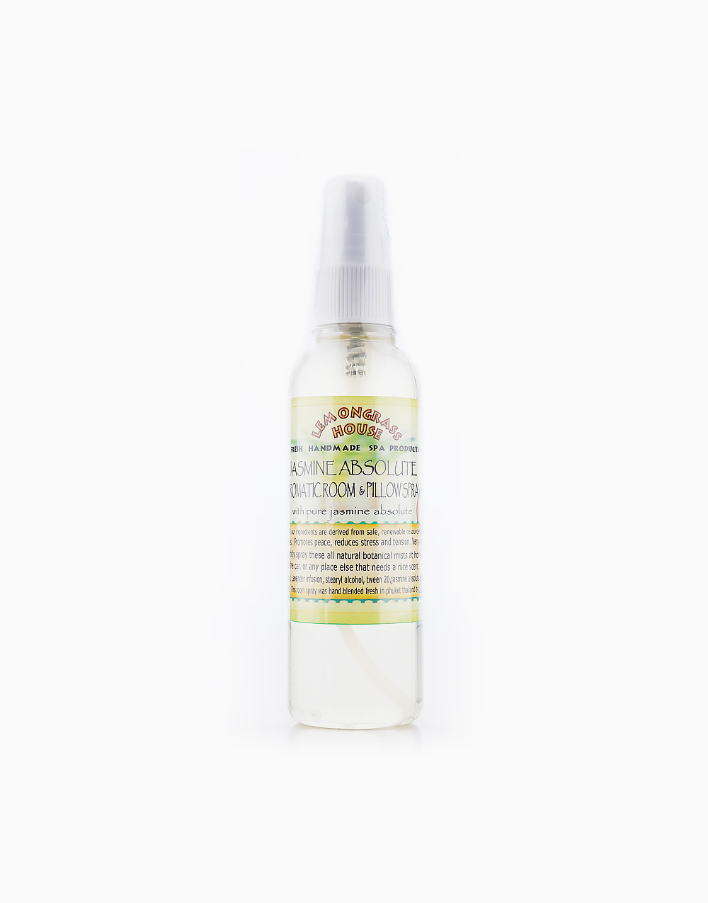 Jasmine Aromatic Room & Pillow Spray (120ml) by Lemongrass House