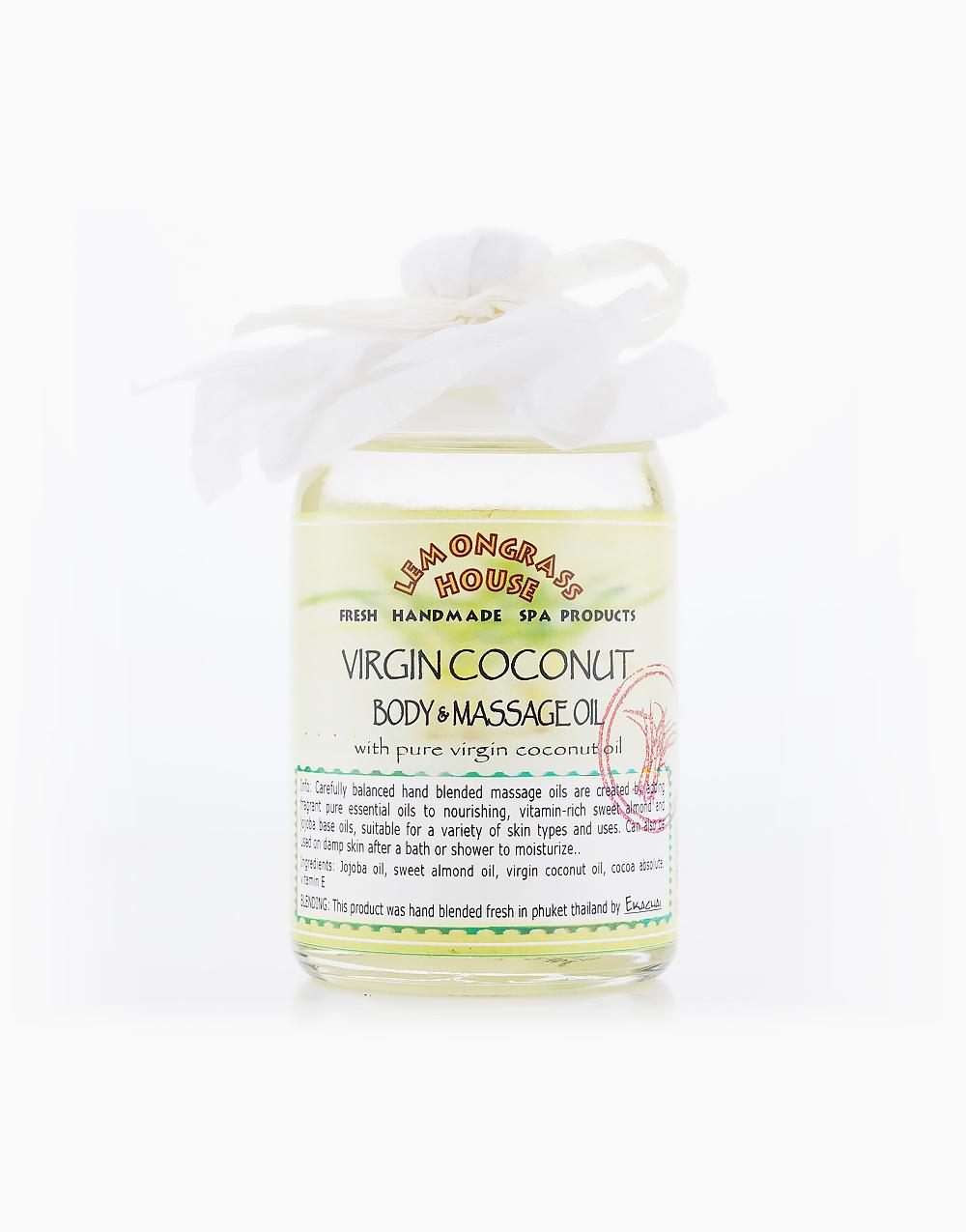 Virgin Coconut Massage Oil (120ml) by Lemongrass House