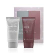 Perfect Cover BB Cream and Crystal Glow Whitening Cream Gift Set by Face Republic