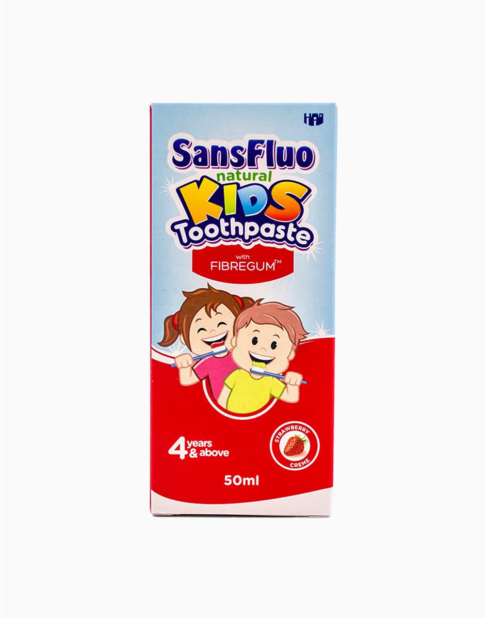 SansFluo Natural Kids Toothpaste (50ml) by Sansfluo | Strawberry Crème