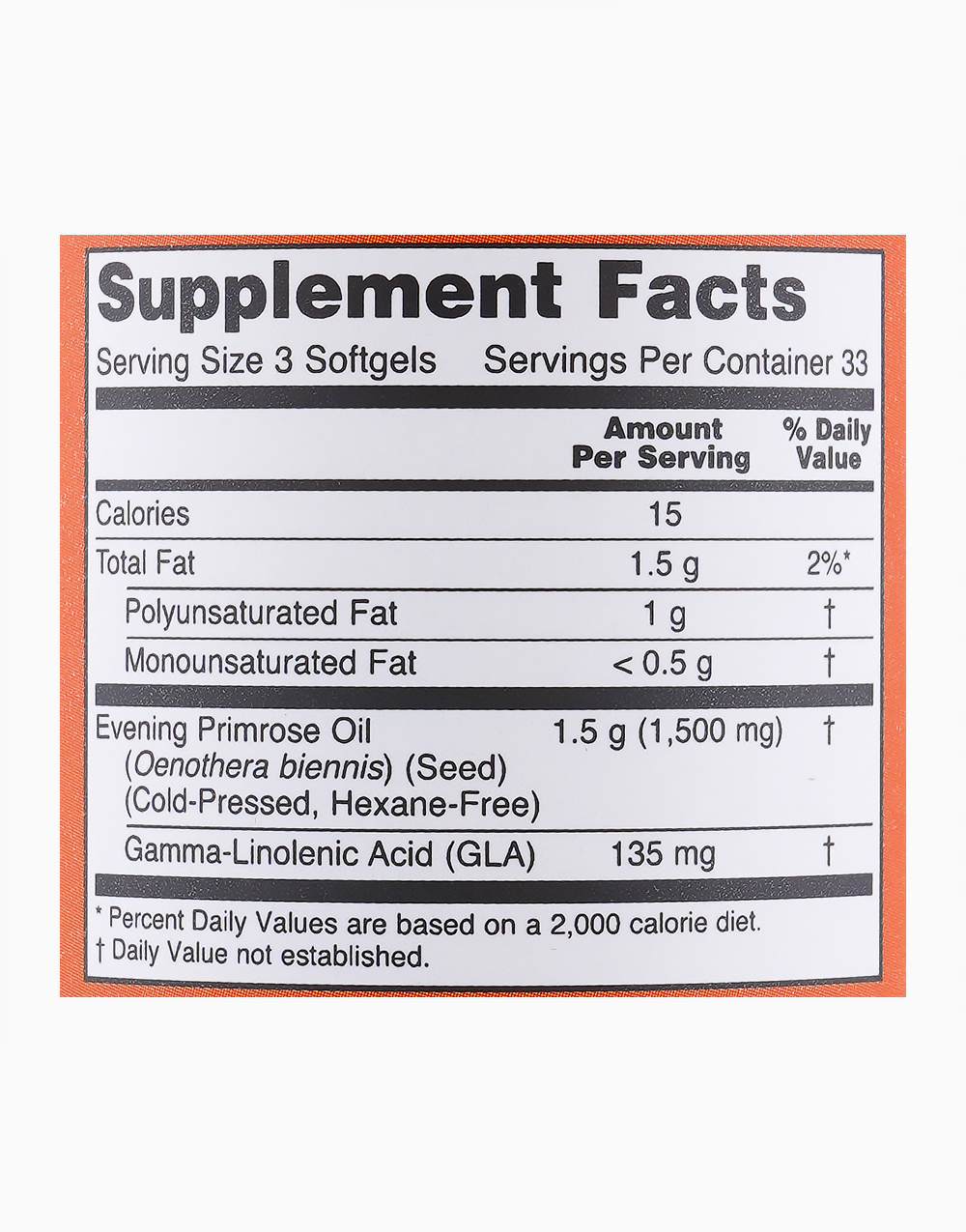 Evening Primrose Oil (500g, 100 Softgels) by NOW