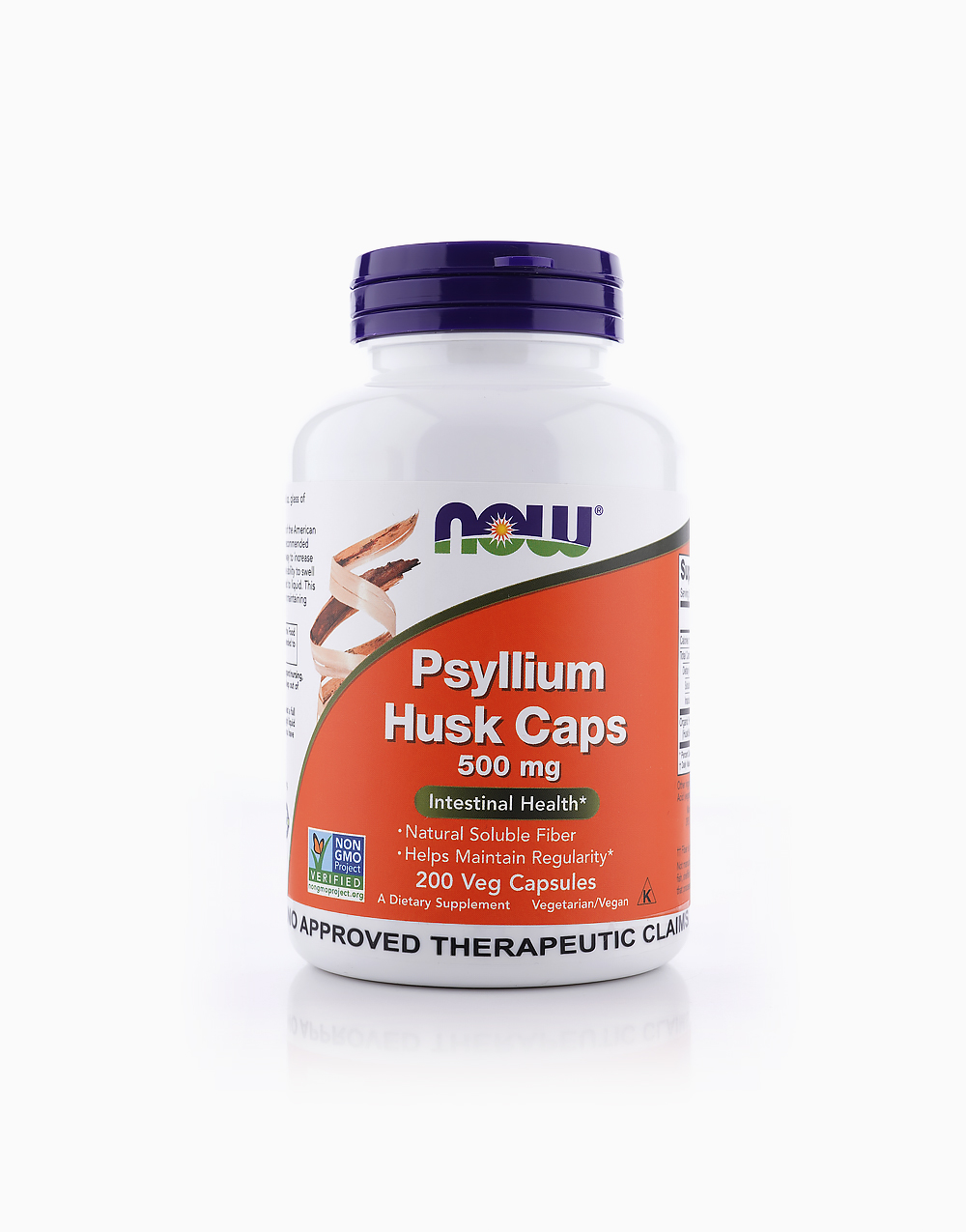Psyllium Husk (500mg, 200 Capsules) by NOW