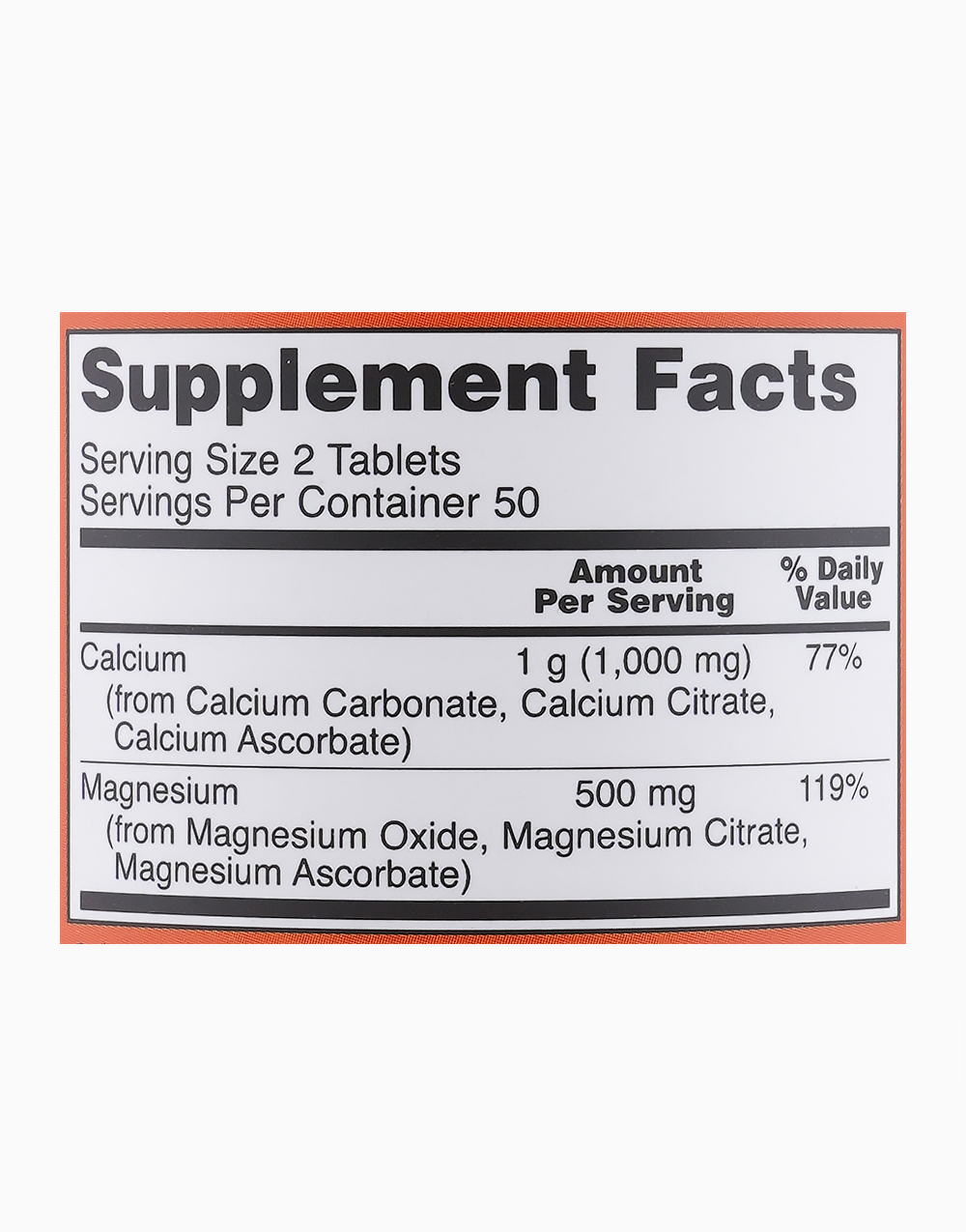 Calcium & Magnesium (100 Tablets) by NOW
