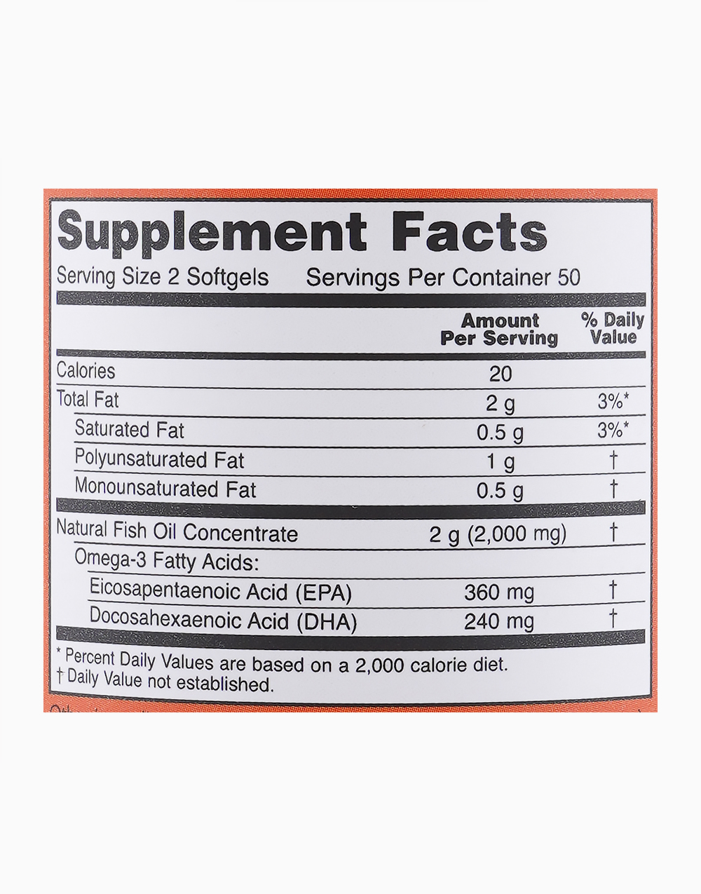 Omega 3 (100 Softgels) by NOW