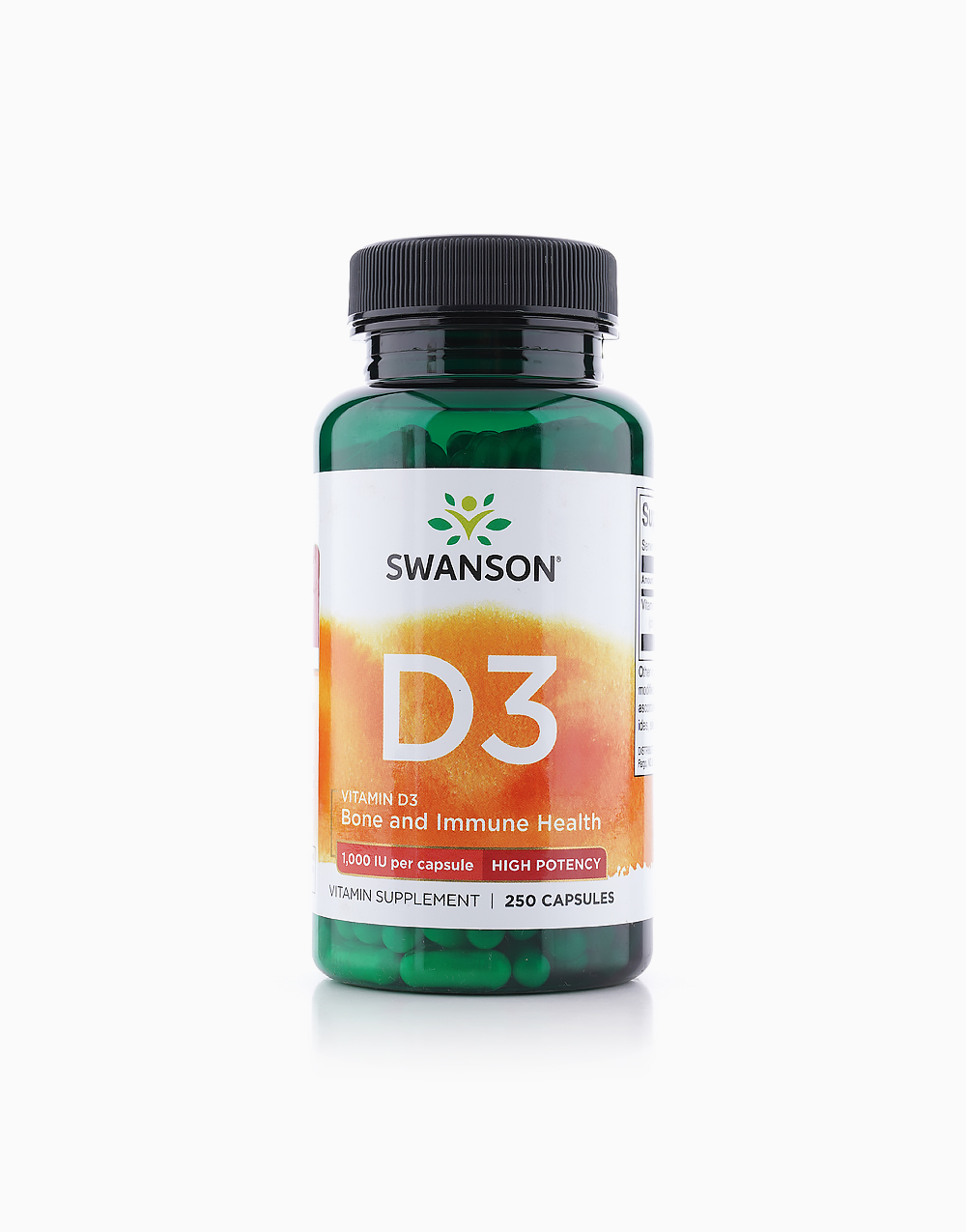 Vitamin D3 1000IU (250 Caps) by Swanson