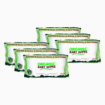 Organic baby wipes 80s pack of 6