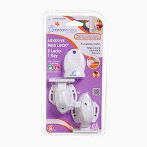 Dreambaby f856 adhesive mag lock 2 locks  1 key