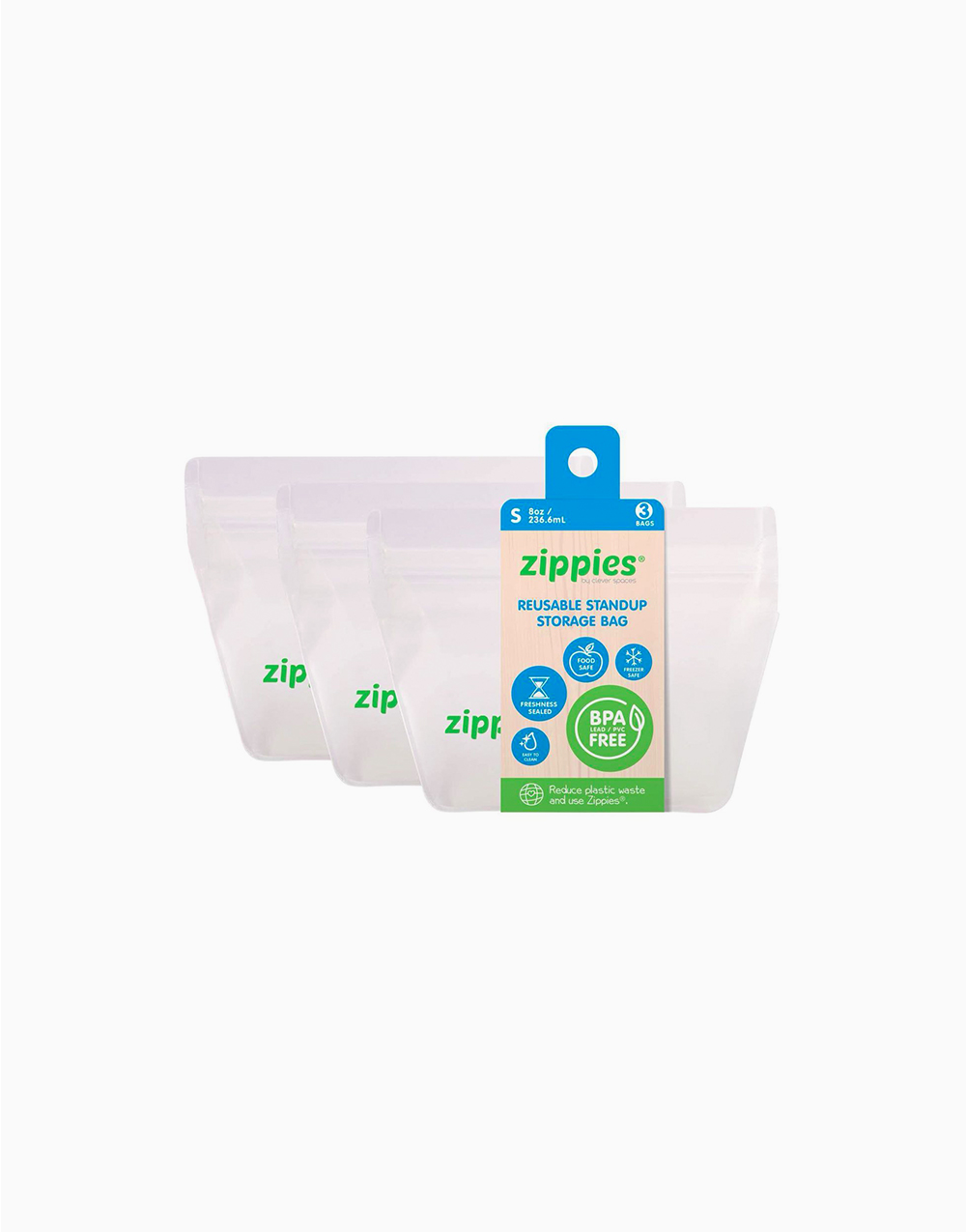 Small Reusable Stand-Up Bags by Zippies