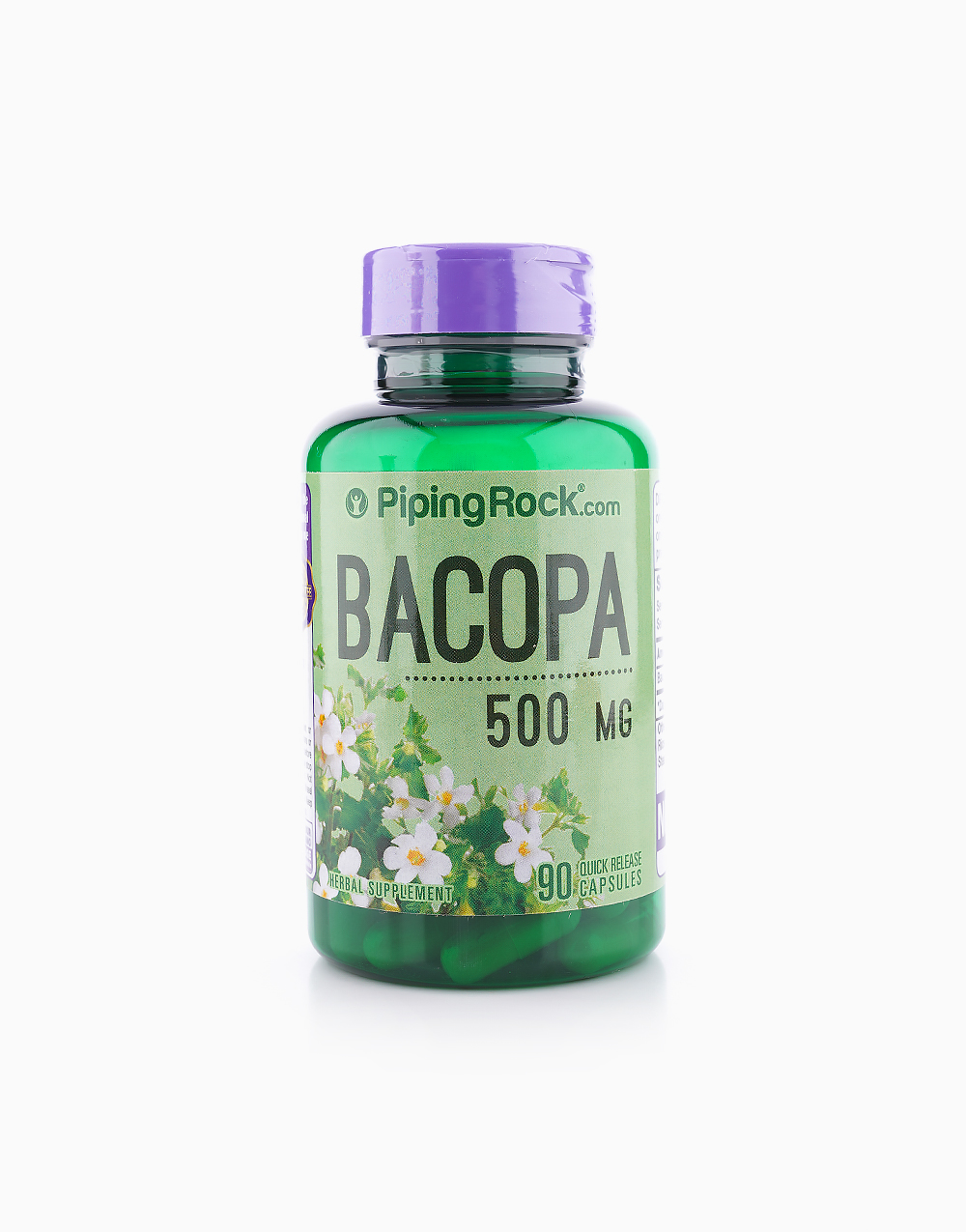 Bacopa Monnieri 500mg (90 Capsules) by Piping Rock