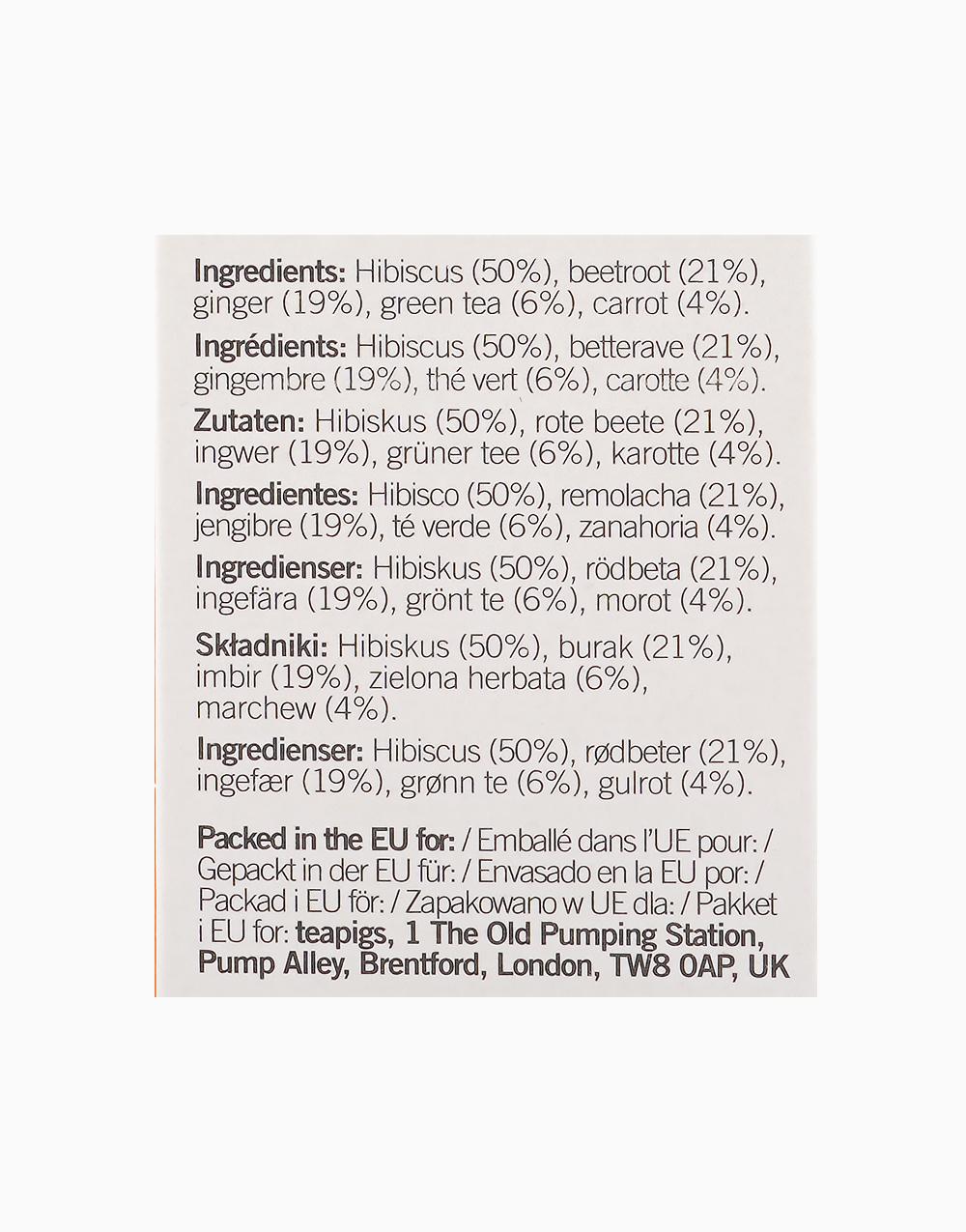 Upbeet Vitality Tea by Teapigs